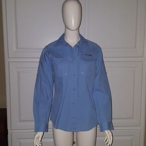 Columbus blue fishing shirt